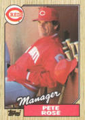 1987 Topps #393 Pete Rose Reds MG
