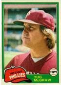 1981 Topps #40 Tug McGraw Baseball Card