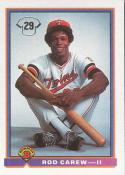 Rod Carew 1991 Bowman Baseball Card #2 (Minnesota Twins)