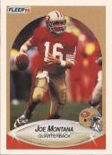 Joe Montana 1990 Fleer Card #10