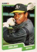 1990 Fleer #13 Felix Jose Athletics