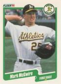 1990 Fleer #15 Mark McGwire Athletics