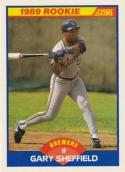 1989 Score #625 Gary Sheffield Milwaukee Brewers Baseball Card