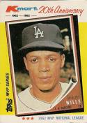 Maury Wills 1982 Topps K-Mart Baseball Card #2 (1962)
