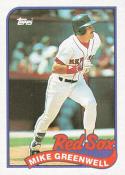 Mike Greenwell 1989 Topps #630 Mike Greenwell NM Near Mint Close TO 50/50!