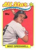 Mike Greenwell 1989 Topps All-Star Baseball Card #402  NM Near Mint Close TO 50/50!