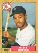 Baseball MLB 1987 Topps Traded #14T Ellis Burks NM Near Mint Rookie Card Red Sox