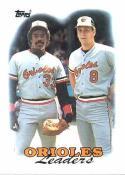 1988 Topps #51 Eddie Murray/Cal Ripken Jr. Orioles Orioles Team Leaders