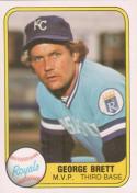 Baseball MLB 1981 Fleer #28 George Brett NM-MT Royals