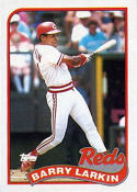 1989 Topps #515 Barry Larkin Baseball Card