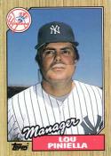 1987 Topps #168 Lou Piniella Yankees MG