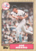 1987 Topps #344a Joe Niekro Yankees