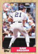 1987 Topps #74 Dan Pasqua Yankees