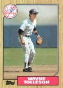 1987 Topps #224 Wayne Tolleson Yankees