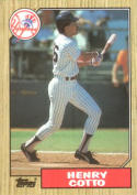 1987 Topps #174 Henry Cotto Yankees
