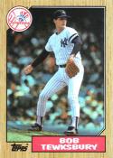 1987 Topps #254 Bob Tewksbury Rookie Card Yankees