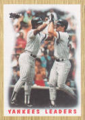 1987 Topps #406 Rickey Henderson/Don Mattingly Yankees Yankees Leaders