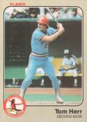 Baseball MLB 1983 Fleer #9 Tom Herr NM-MT Cardinals