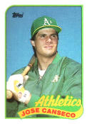 Jose Canseco Oakland Athletics (Baseball Card) 1989 Topps #500