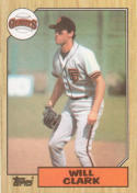1987 Topps #420 Will Clark Rookie Card Giants