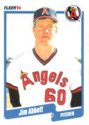 1990 Fleer #125 Jim Abbott Angels