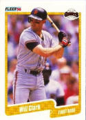 1990 Fleer #54 Will Clark Giants UER