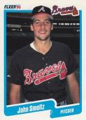 1990 Fleer #595 John Smoltz Braves