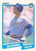 1990 Fleer #336 Gary Sheffield Brewers