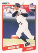 1990 Fleer #530 Carlton Fisk White Sox UER