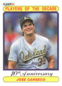 1990 Fleer #629 Jose Canseco Athletics 1988 UER