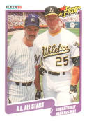 1990 Fleer #638 Don Mattingly/Mark McGwire A.L. All-Stars