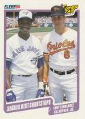 1990 Fleer #634 Tony Fernandez/Cal Ripken Jr. Leagues Best Shortstops