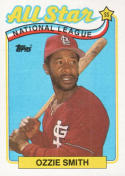 Ozzie Smith AS St. Louis Cardinals BB (Baseball Card) 1989 Topps #389