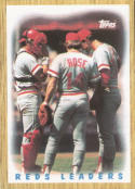 1987 Topps #281 Pete Rose/Bill Gullickson/Bo Diaz Reds Reds Leaders