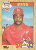 1987 Topps #598 Ozzie Smith Cardinals AS