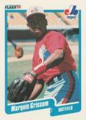1990 Fleer #347 Marquis Grissom Rookie Card Expos
