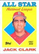 1988 Topps #397 Jack Clark Cardinals AS