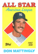 1988 Topps #386 Don Mattingly Yankees AS