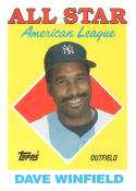 1988 Topps #392 Dave Winfield Yankees AS