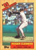 1987 Topps Tiffany Roger Clemens Baseball Card #1
