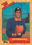 1987 Topps Tiffany Jim Deshaies Baseball Card #2