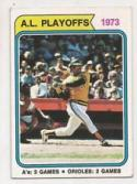 1974 Topps #470 Reggie Jackson ALCS (Playoff Highlight) (Baseball Cards)