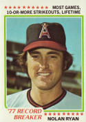 1978 Topps Nolan Ryan (Record Breaker) Baseball Card #6