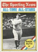 1976 Topps #345 Babe Ruth All Time Greats New York Yankees