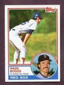 Wade Boggs 1983 Topps Rookie Baseball Card #498