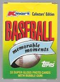1988 Topps K-Mart Memorable Moments 33 Card Factory Set