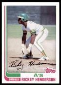 1982 Topps Rickey Henderson Baseball Card #610 - Shipped In Protective Display Case!
