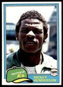 1981 Topps Rickey Henderson Baseball Card #261 - Shipped In Protective Display Case!
