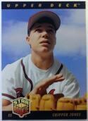 1993 Upper Deck #24 Chipper Jones Atlanta Braves Baseball Card